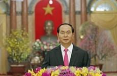 越南国家主席陈大光发表2017年新年贺词