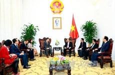 政府总理阮春福会见韩联社社长朴鲁晃