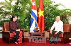 越南国会副主席丛氏放访问古巴的系列活动报道