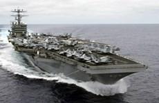 美国航母战斗机群在东海开展巡逻行动