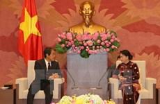 国会主席阮氏金银会见日本和泰国驻越大使