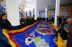 越南最大观音刺绣画被列入越南纪录
