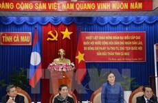老挝国会主席对越南金瓯省进行访问