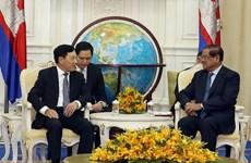 努力推动越柬两国陆地边境勘界立碑工作尽早完成