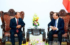 政府总理阮春福会见老挝安全部部长宋乔•西拉冯