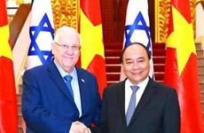 越南政府总理阮春福会见以色列总统鲁文•里夫林