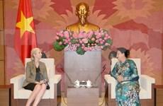 阮氏金银主席会见挪威驻越大使埃里克森