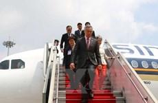 新加坡总理李显龙会见越南岘港市委书记阮春英
