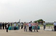 美国军人遗骸归国仪式在岘港市举行