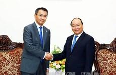 越南政府总理阮春福会见蒙古国外长蒙赫奥尔吉勒