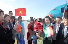 越南国会主席阮氏金银抵达布达佩斯  开始对匈牙利进行正式访问