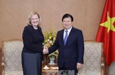 政府副总理郑廷勇会见爱尔兰驻越大使卡西•莫兰