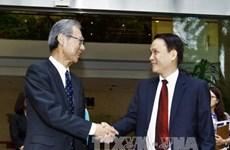 越通社与日本共同社举行会谈