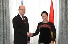 阮氏金银主席会见捷克总理索博特卡