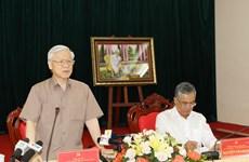 阮富仲总书记:昆嵩省需继续实现快速可持续发展