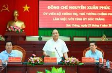 阮春福总理:朔庄省应集中扩大具有优势的高产水稻和果树种类种植面积