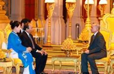 越南政府总理阮春福抵达金边开始对柬埔寨王国进行正式访问