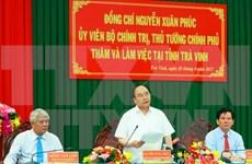 阮春福总理:茶荣省应投入发展虾类精养模式