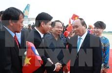越南政府总理阮春福对老挝进行正式访问