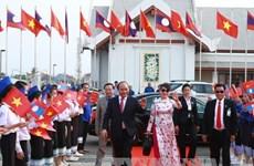 阮春福总理圆满结束对老挝进行的正式访问
