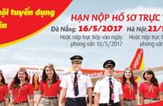 越捷航空公司在岘港市与河内市招募空姐空少