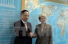 UNESCO总干事:越南是成功开展UNESCO各项活动的先行者和典范