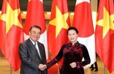 国会主席阮氏金银与日本国会众议院议长大岛理森举行会谈