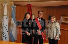 阿根廷向越南驻阿大使阮廷操授予一级五月勋章