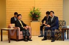 越南政府副总理兼外交部长范平明对日本进行工作访问