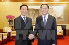 国家主席陈大光会见中国全国政协副主席王家瑞