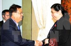 越南和老挝国会促进多个领域合作