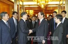 越南国家主席陈大光出席越中经贸合作座谈会