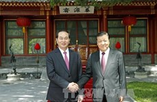 国家主席陈大光会见中共中央政治局常委、中央书记处书记刘云山