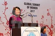 越南国家副主席邓氏玉盛出席2017年全球妇女峰会开幕式