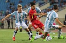 越南U23足球队以0比5输给阿根廷U20足球队