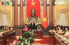陈大光主席会见2016年女性公安先进典型代表
