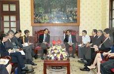 新华社社长蔡名照访问越南《人民报》社
