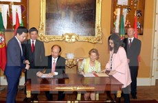 越南政府副总理范平明与葡萄牙外长举行会谈