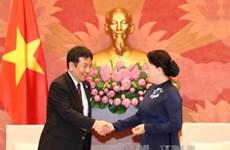 日本民进党代表团对越南进行访问