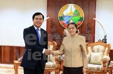 越南加快推进老挝国会大厦工程项目的建设