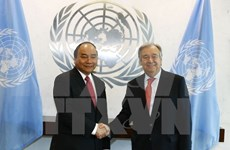 越南政府总理阮春福与联合国秘书长举行会谈