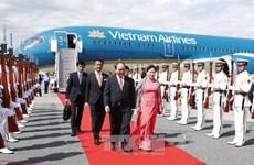 阮春福总理抵达东京 开始对日本进行正式访问