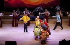 俄罗斯乌拉尔民间合唱团在河内表演