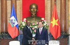 国家主席陈大光会见海地参议院议长尤里•拉托尔蒂