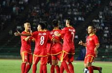 友谊赛:越南U17男足队4:0大胜柬埔寨U17男足队