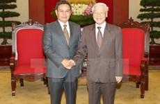 阮富仲总书记会见老挝建国阵线中央主席赛宋蓬·丰威汉
