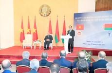 越南国家主席与白俄罗斯总统出席越白经济座谈会