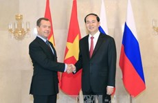 陈大光会见俄罗斯总理梅德韦杰夫