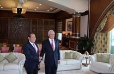 越南政府副总理张和平拜会马来西亚总理纳吉布
