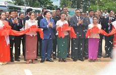 越柬建交50周年:两国陆路运输l路线正式通车